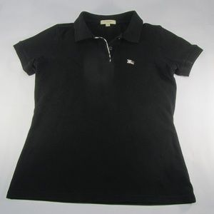Burberry London Polo Shirt Women's Sz S Black
